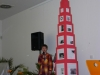 Fertigstellung des rosa Turms