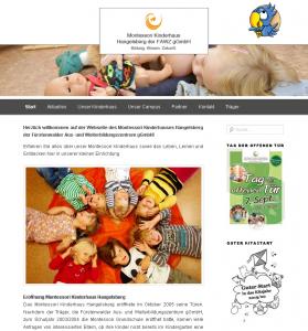 Webseite des Montessori Kinderhaus Hangelsberg_Juli 2019